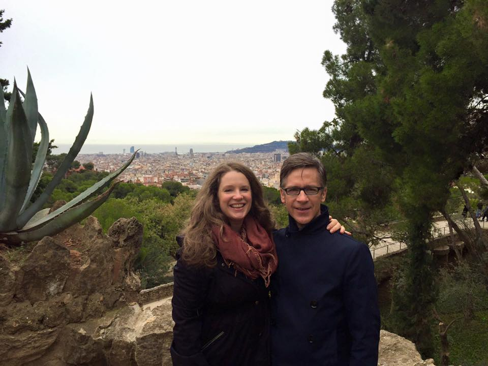 In beautiful Parc Guell, Barcelona